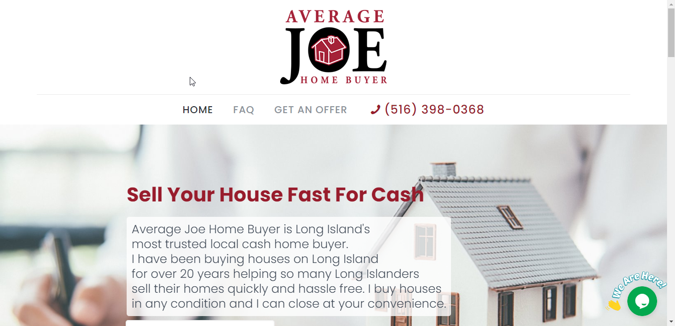 Average Joe Home Buyer Website
