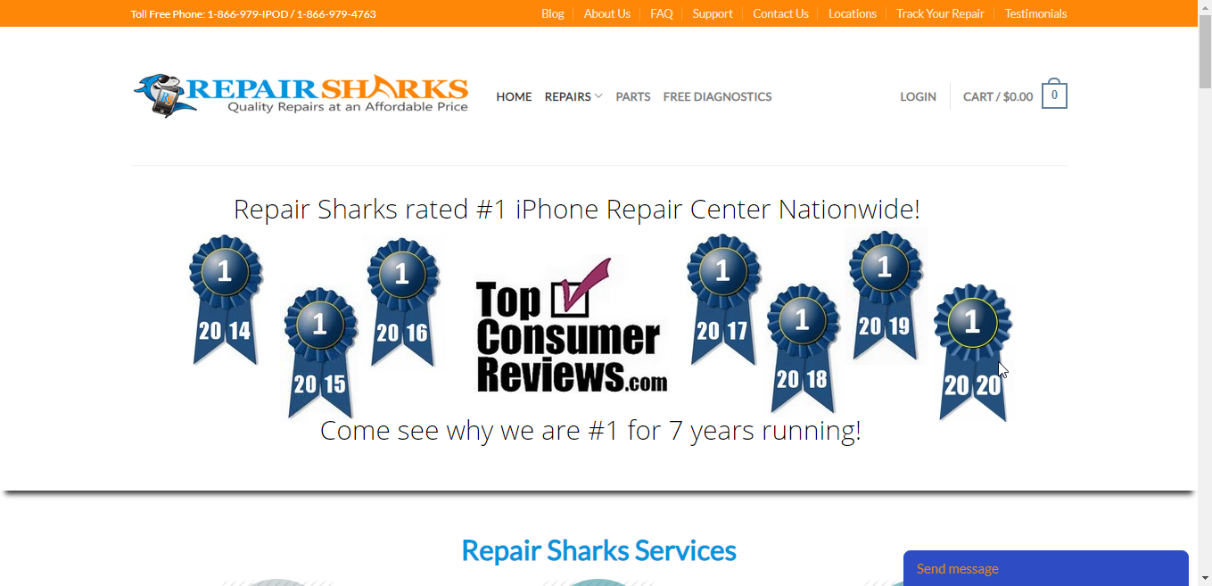 Repair Sharks Website